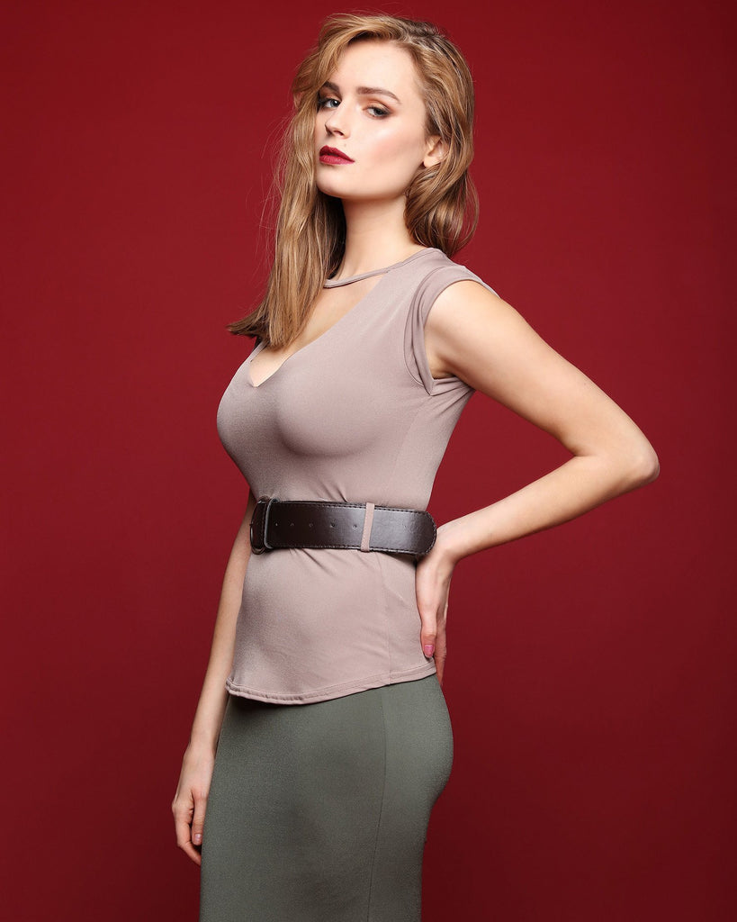 Ripped Top With Neck Strap Detail-Jezzelle