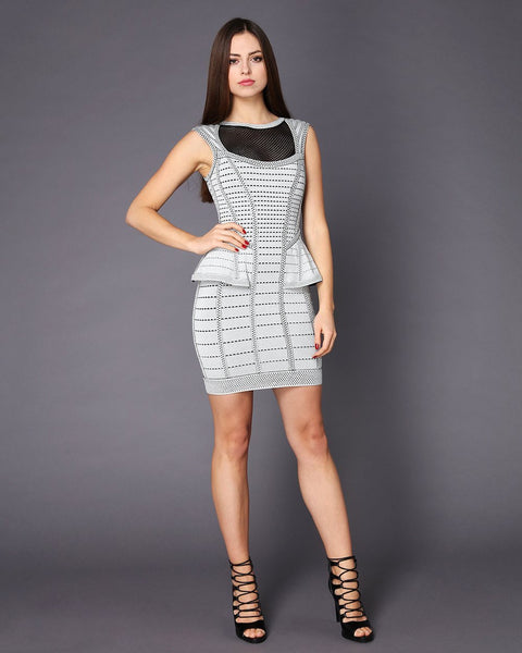 Peplum Bandage Dress-Jezzelle