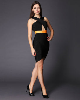 Cut Out Front & Back Bandage Dress - jezzelle  - 2