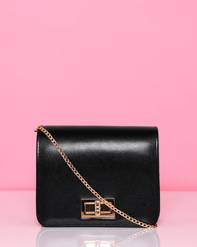 Classic Black Mini Shoulder Bag - Jezzelle