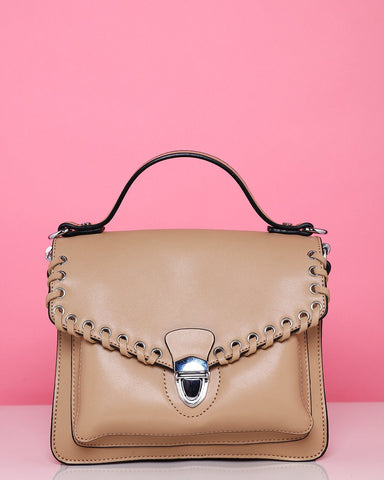 Tan Small Satchel Shoulder Bag-Jezzelle