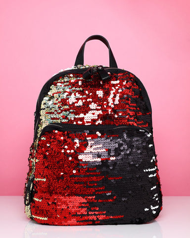 Multicolour Sequins Backpack - Jezzelle