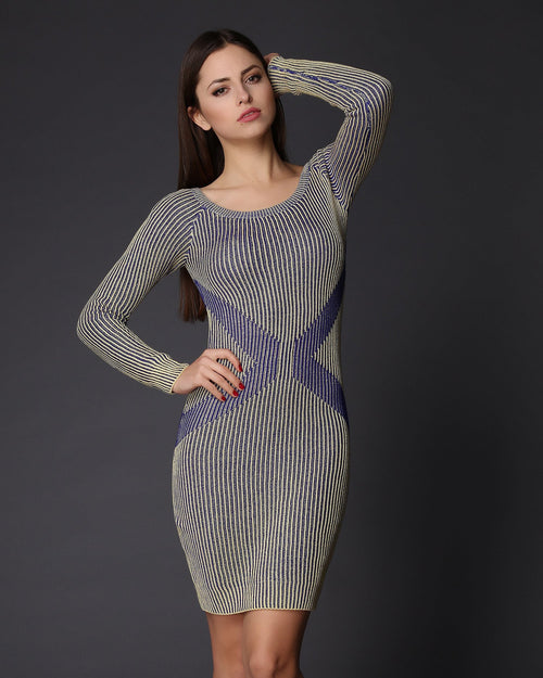 Knitted Jumper Dress-Jezzelle