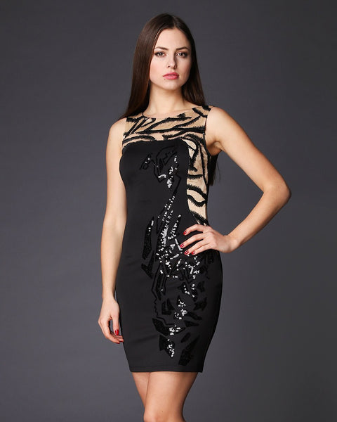 Sequinned Sleeveless Bodycon Dress - jezzelle  - 3