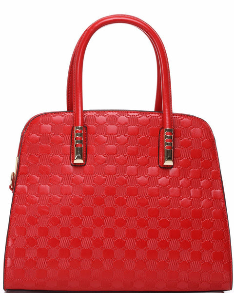 Textured Red Handbag - Jezzelle