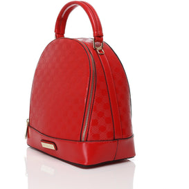 Textured Small Red Backpack Handbag-Jezzelle
