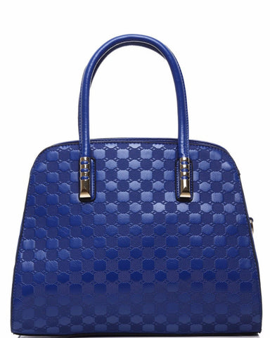 BLUE TEXTURED HANDBAG - Jezzelle
