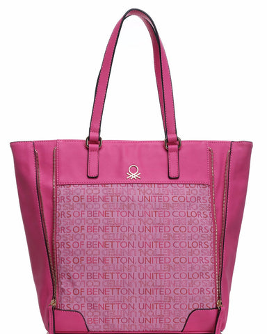 Fuchsia Canvas Tote Bag - Jezzelle