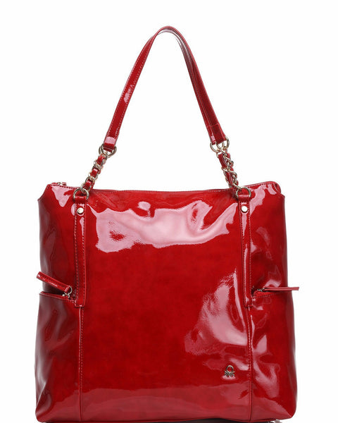 High Shine Patent PVC Shoulder Bag - Jezzelle