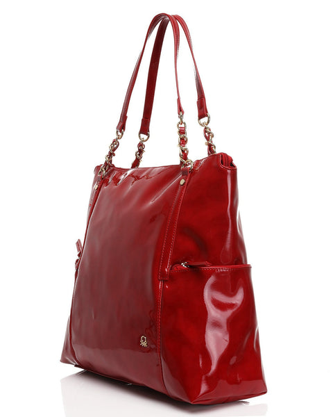 High Shine Patent PVC Shoulder Bag-Jezzelle