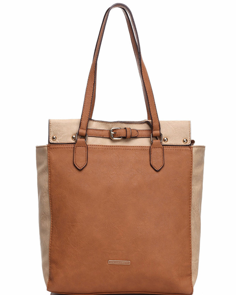 Dual Tone Soft Shopper Bag-Jezzelle