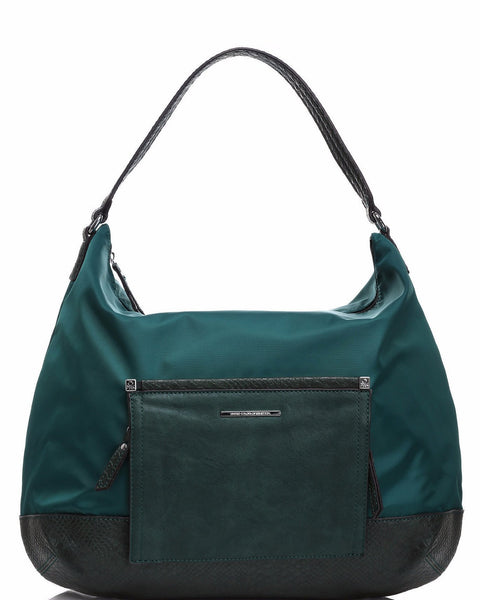 Front Flap Green Shoulder Bag - Jezzelle