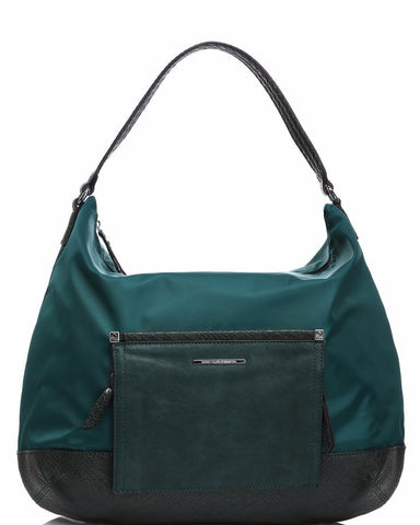 Front Flap Green Shoulder Bag-Jezzelle