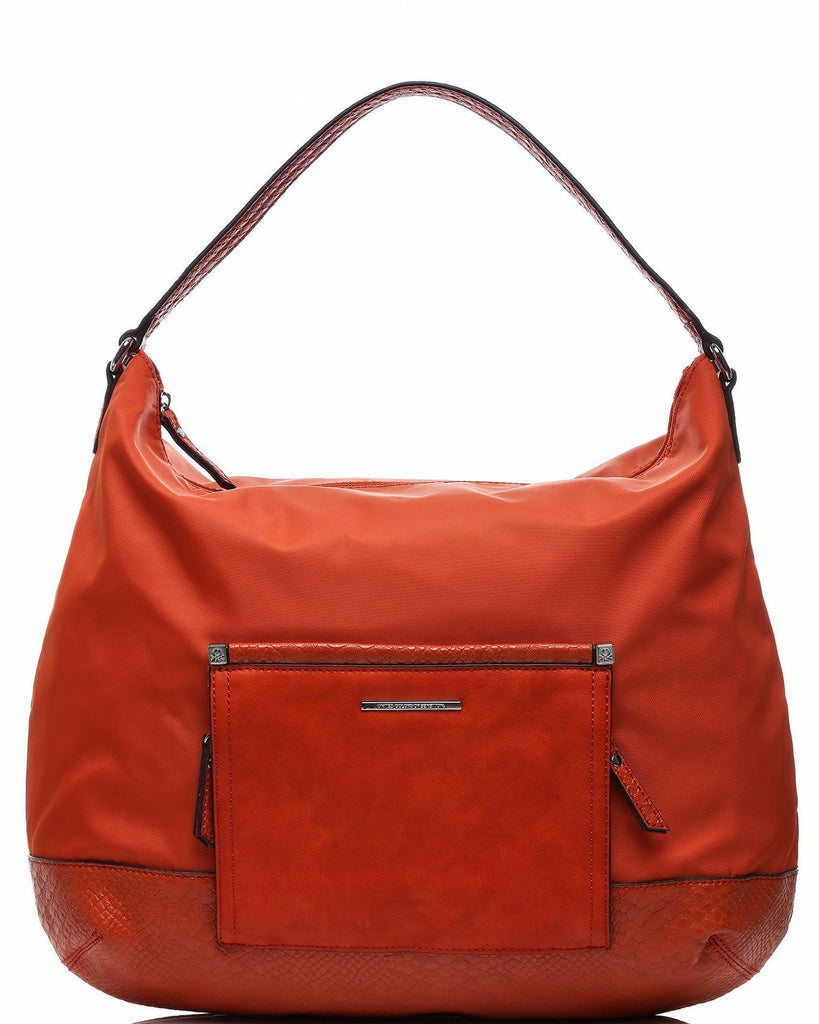 Front Flap Orange Shoulder Bag-Jezzelle