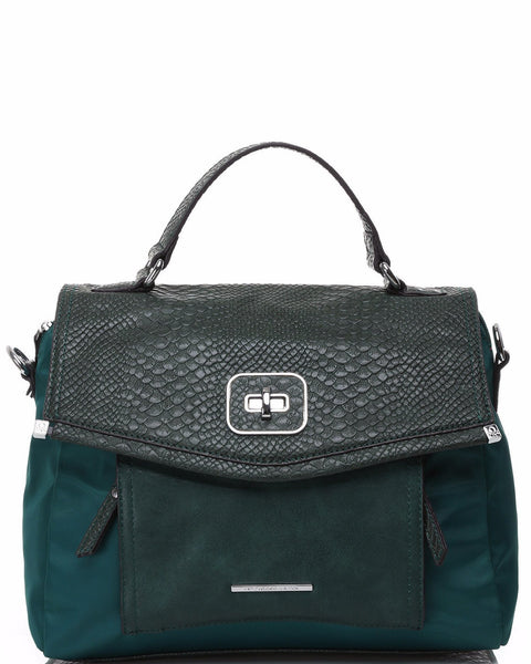 Python Imitation Green Satchel - Jezzelle
