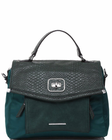 Python Imitation Green Satchel-Jezzelle