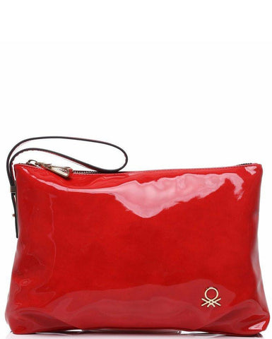 High Shine Patent PVC Clutch Bag-Jezzelle