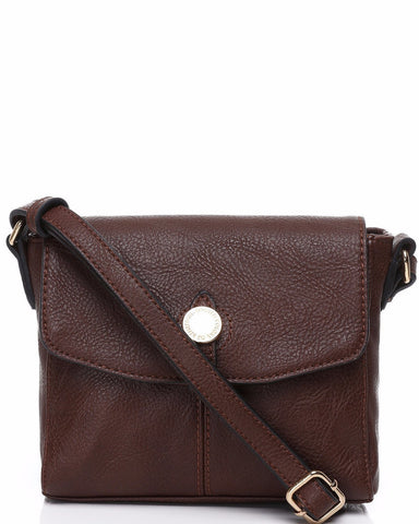 Small Brown Crossbody Bag - Jezzelle