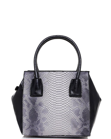 Blue Mock Croc Handbag