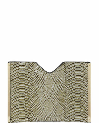 Snake Skin Pattern Clutch Bag - Jezzelle