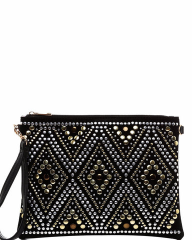 Gold & Silver Embellishment Clutch