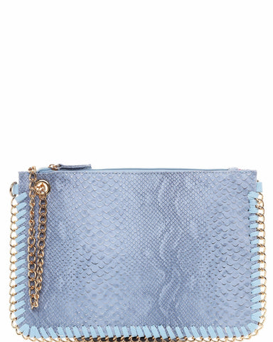 Chain Trimmed Snake Effect Clutch