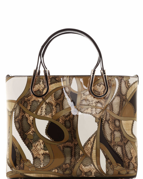 Mixed Animal Print Tote Bag - Jezzelle