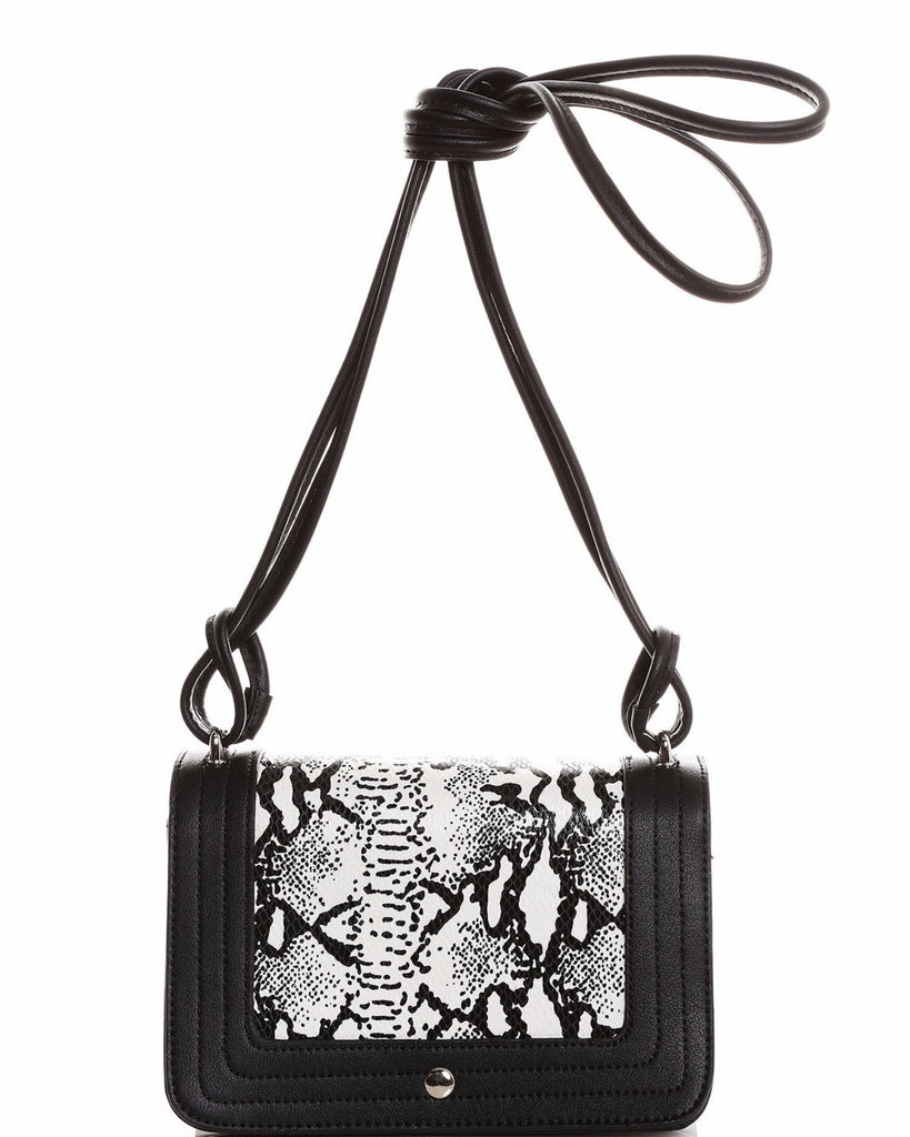 Python Skin Print Small Shoulder Bag-Jezzelle
