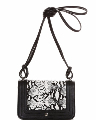 Python Skin Print Small Shoulder Bag - Jezzelle