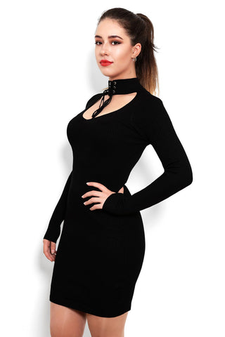 Choker Knitted Dress - Jezzelle