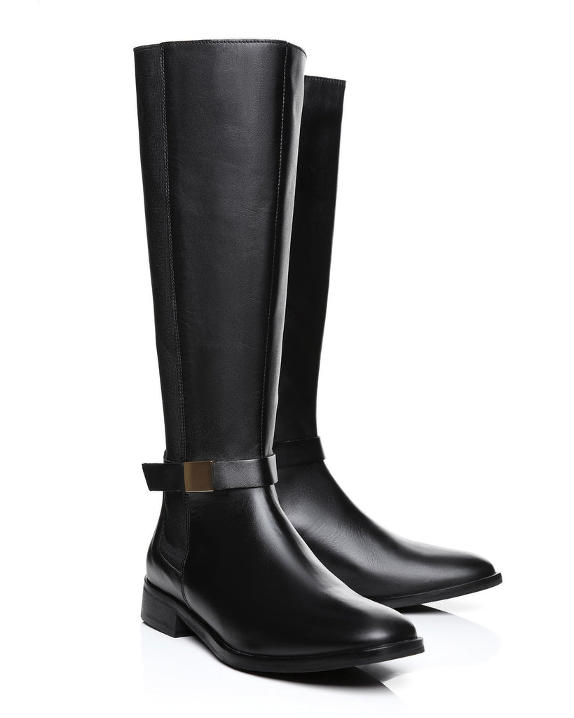 Knee High Leather Boots - jezzelle  - 3