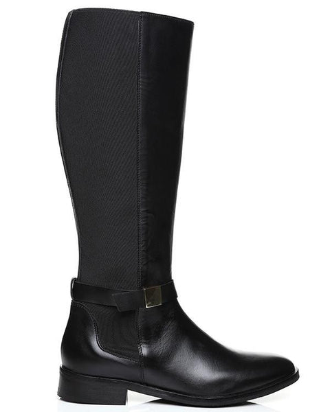 Versace Knee High Leather Riding Boots - Jezzelle