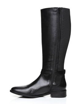 Versace Knee High Leather Riding Boots-Jezzelle