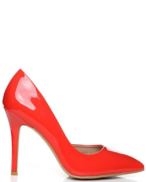 Bright Orange D'orsay Pumps - Jezzelle