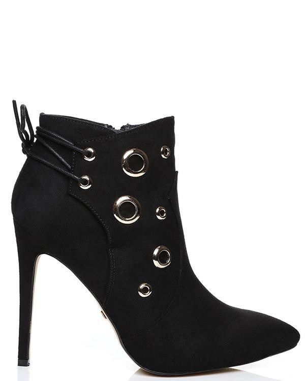 Eyelets Suedette Ankle boots-Jezzelle