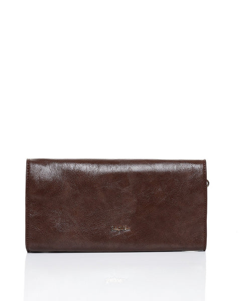 Faux Leather Envelope Clutch-Jezzelle
