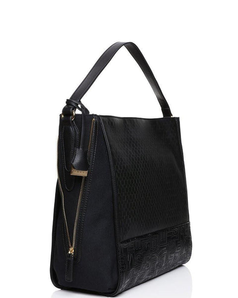 MONOGRAM TEXTURED SHOULDER BAG-Jezzelle