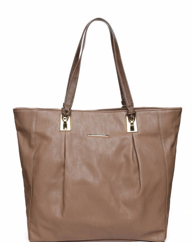 Metal Details Large Shopper Bag - Jezzelle