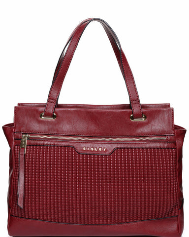 TEXTURED FRONT SHOPPER BAG-Jezzelle