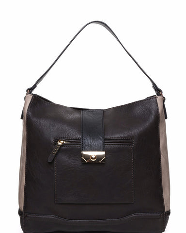 Contrast Panel Shopper Bag - Jezzelle