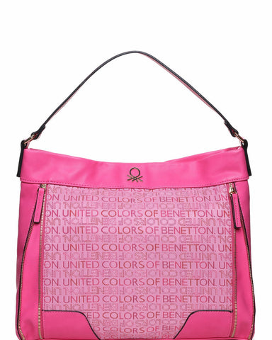 Front Zips Detail Shoulder Bag-Jezzelle