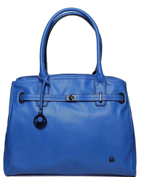 Royal Blue Classic Tote Bag-Jezzelle