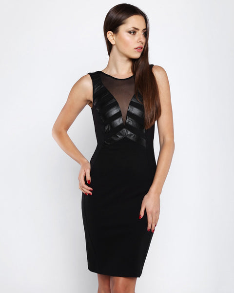 V-neck sleeveless bodycon dress-Jezzelle