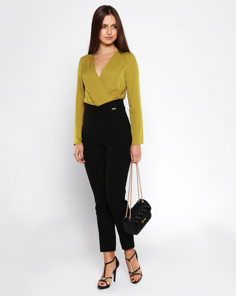Acid Green & Black High Waist Jumpsuit - jezzelle  - 4