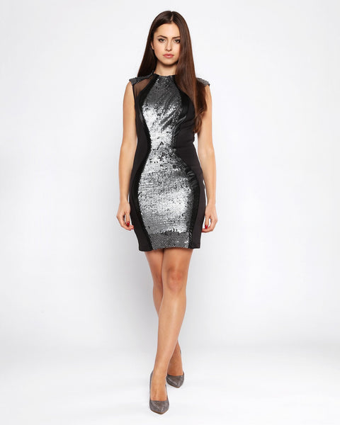 Sequins Embellished Bodycon Dress - Jezzelle