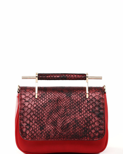 Hanfu Handle Red Shoulder Bag - Jezzelle