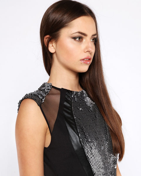 Sequins Embellished Bodycon Dress-Jezzelle