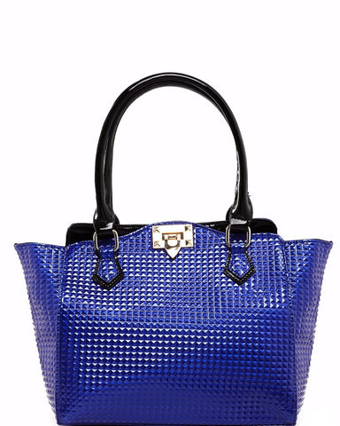 Bright Blue Textured Handbag