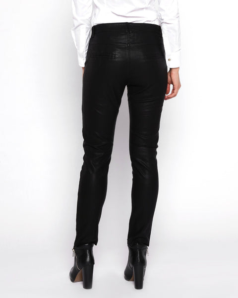 Studded Faux Leather Trousers - jezzelle  - 5