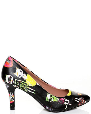 Fashion Cartoon Print Pump Shoes - Jezzelle
